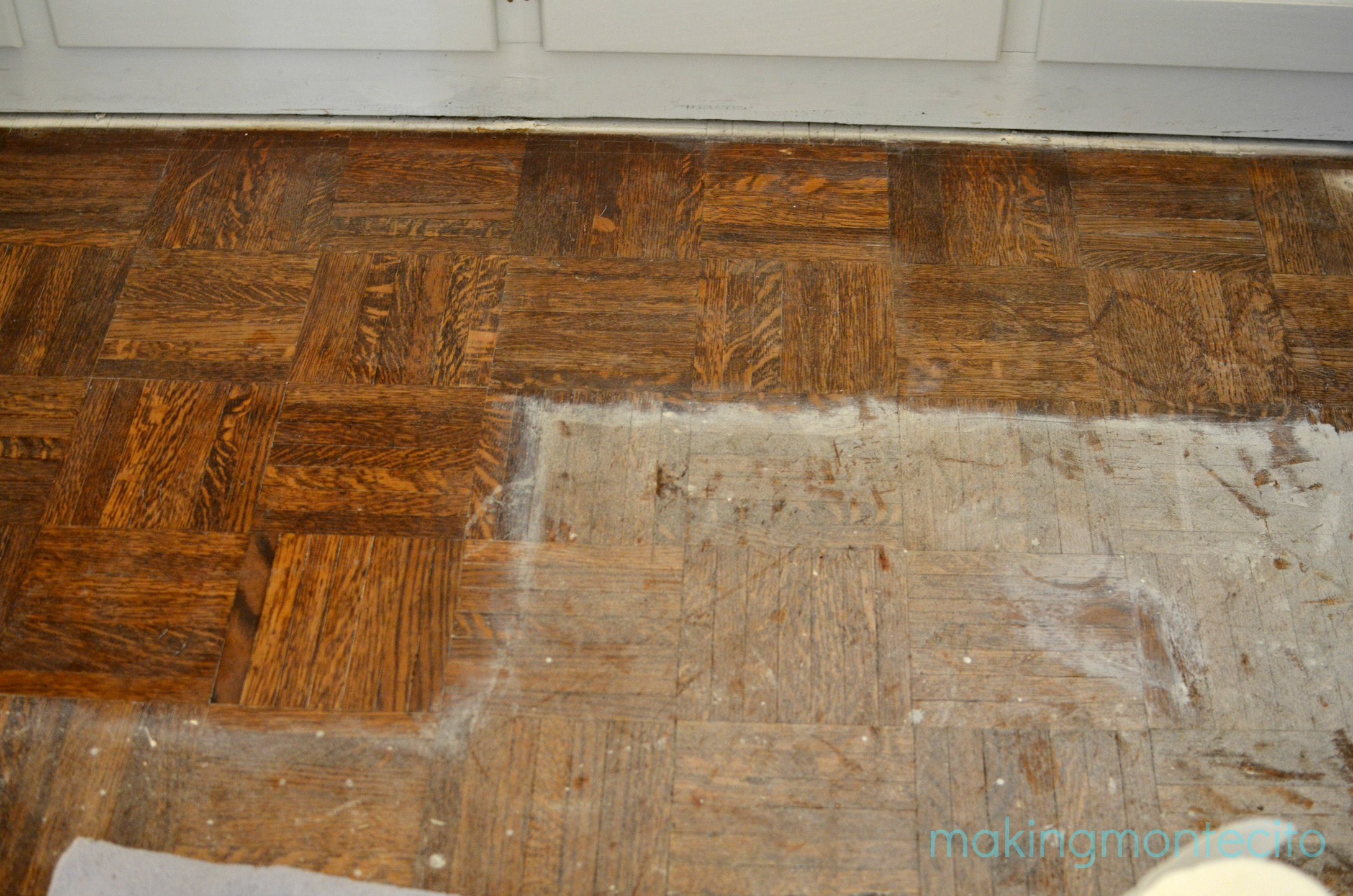 How to remove paint from hardwood floors - Making Montecito Paint Removal 2