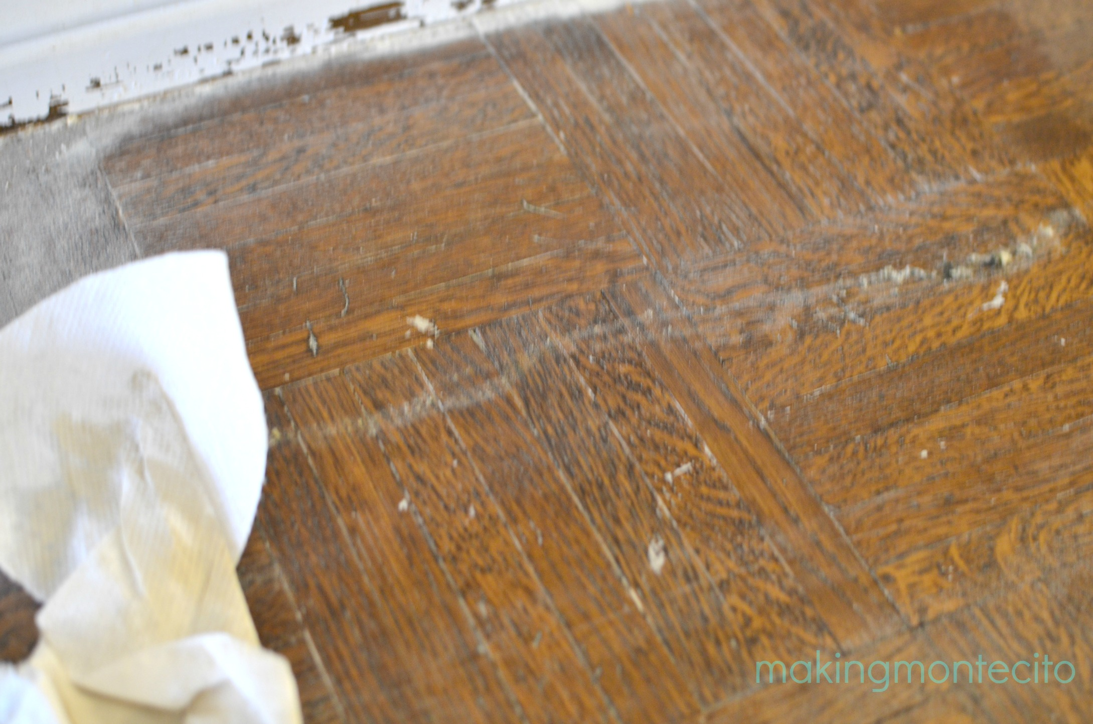 How to remove paint from hardwood floors - Making Montecito Paint Removal Process 2