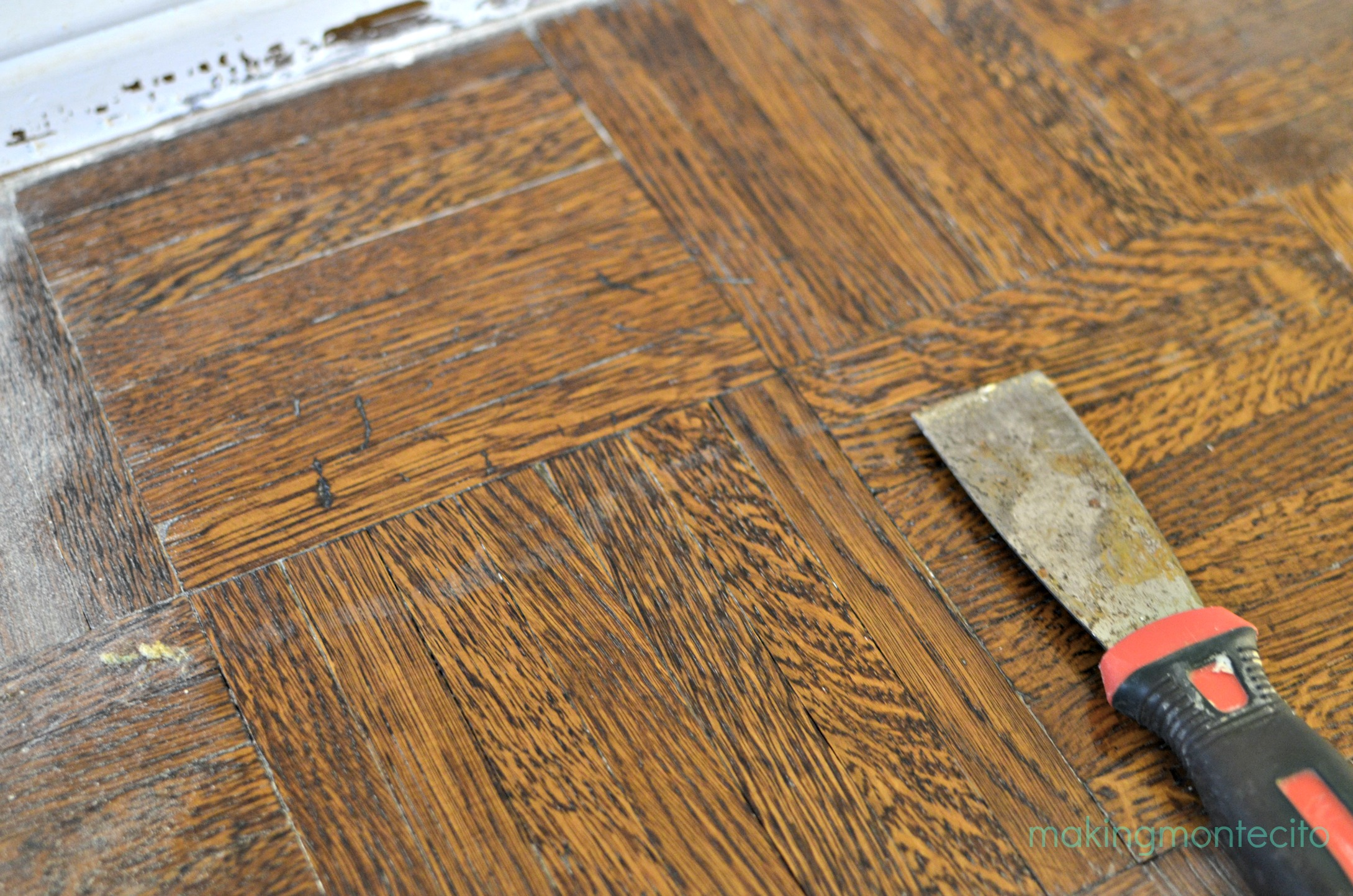 How to remove paint from hardwood floors - Making Montecito Paint Removal Process 6