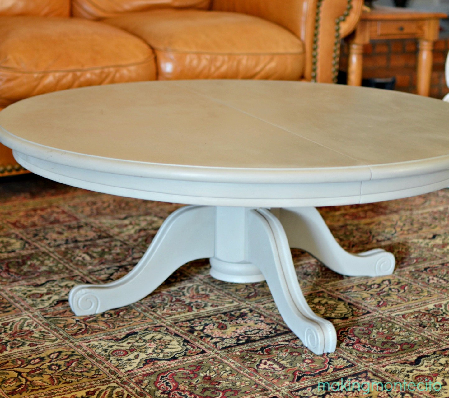 making montecito - dining table to coffee table 8