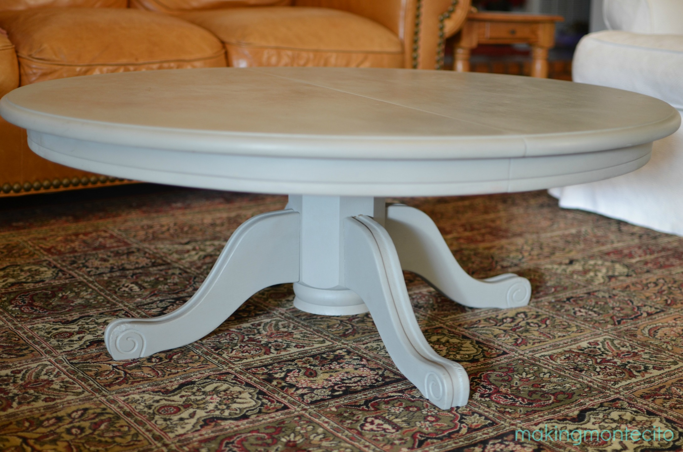 making montecito - dining table to coffee table 9