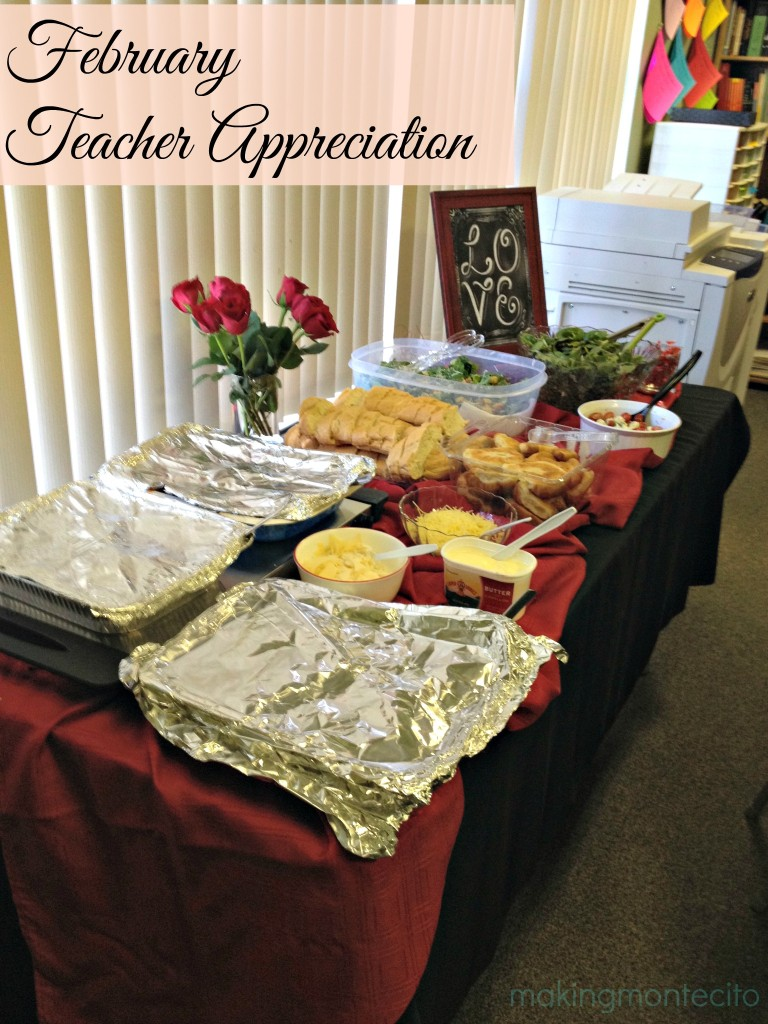 Teacher Appreciation Lunch – February