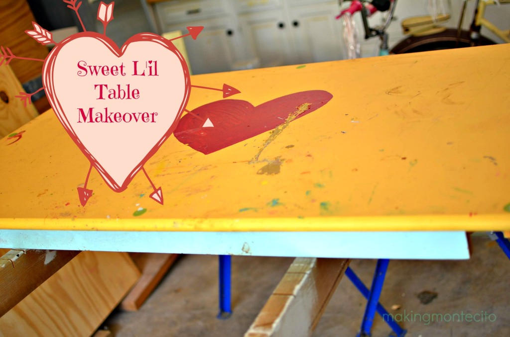 Sweet L'il Table Makeover