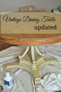 Dining Room Table Update