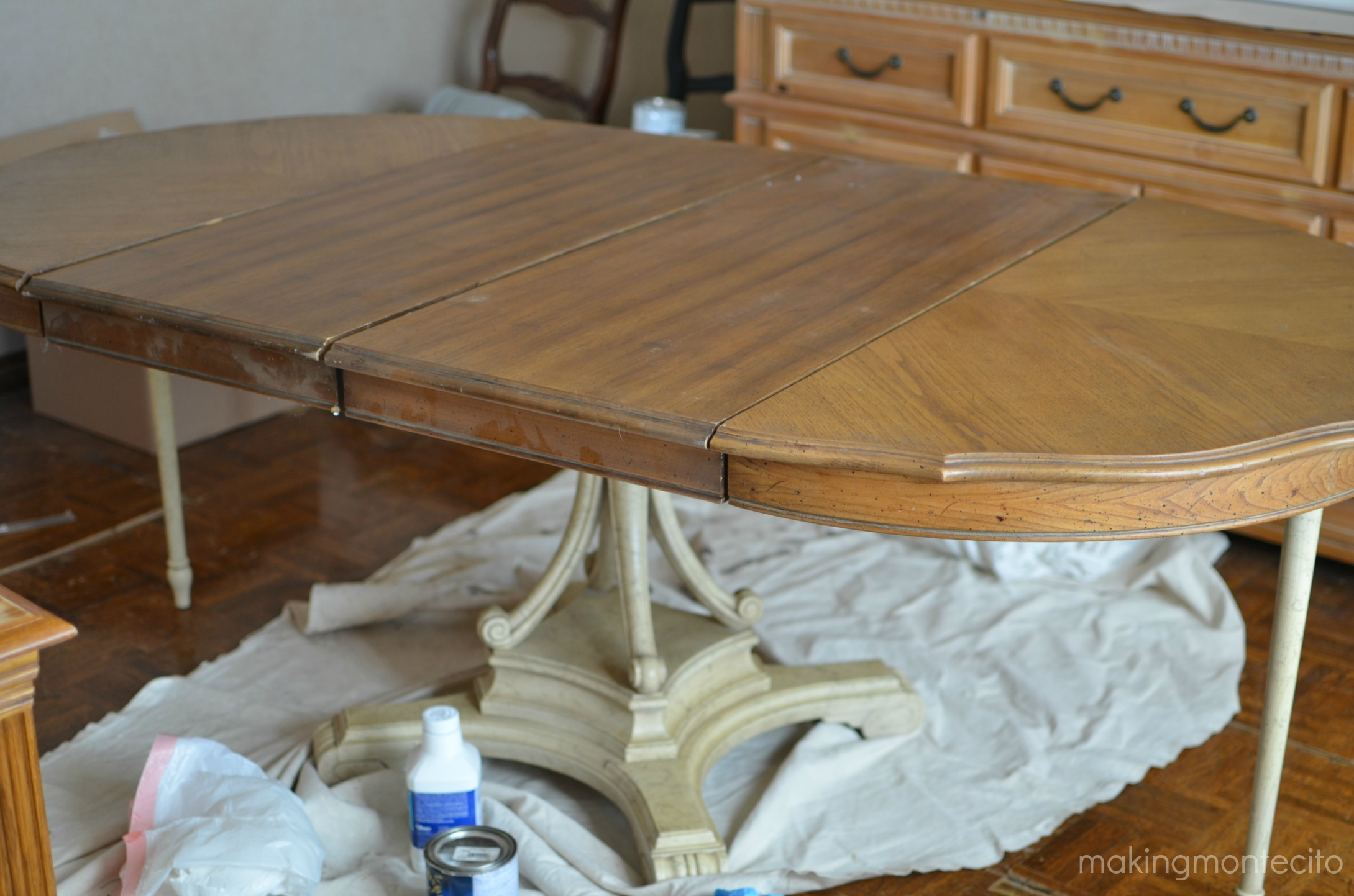 Vintage dining table updated - making montecito 2
