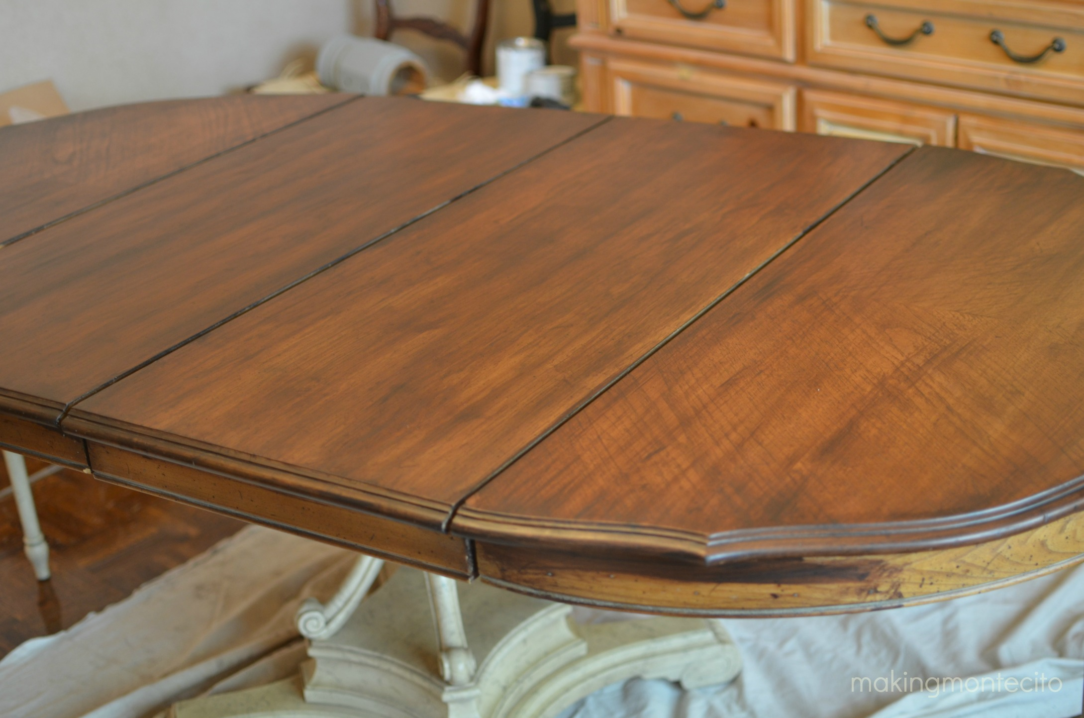Vintage dining table updated - making montecito 3