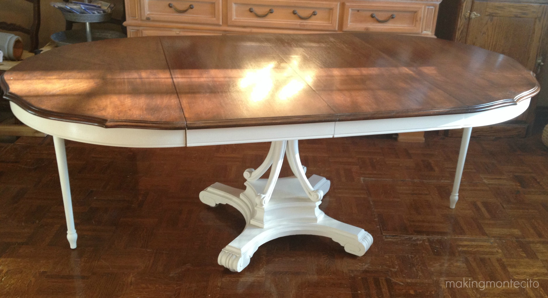 Vintage dining table updated - making montecito 4