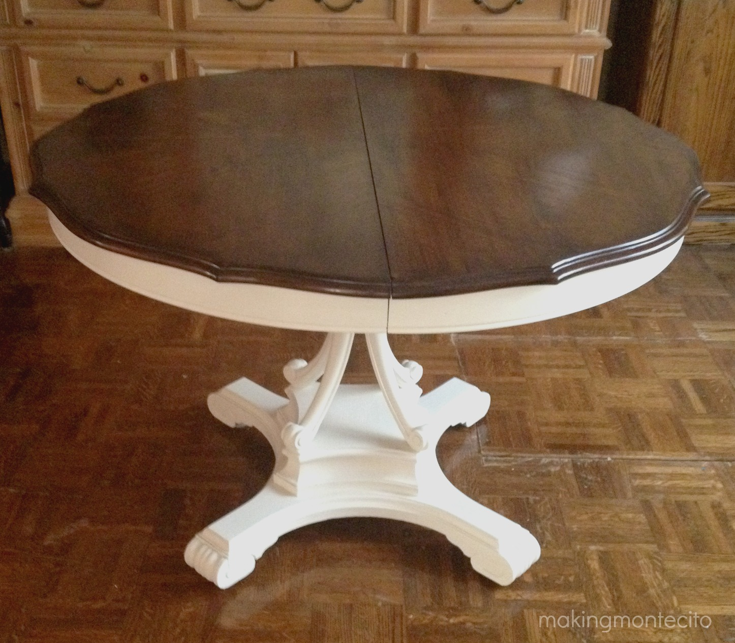 Vintage dining table updated - making montecito 5