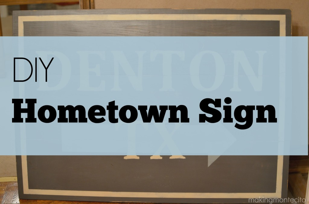 DIY Hometown Sign
