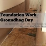 More Foundation Work…Is it Groundhog Day?