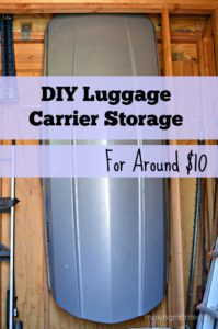 Storing a Luggage Carrier
