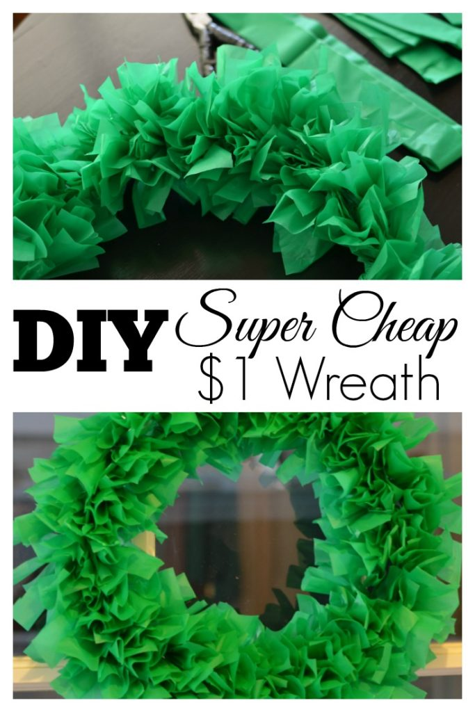 Super Cheap $1 Wreath