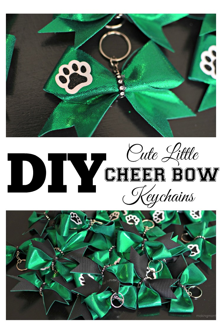 Cute Little Cheer Bow Keychains