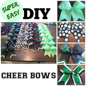 Super Easy Cheer Bows