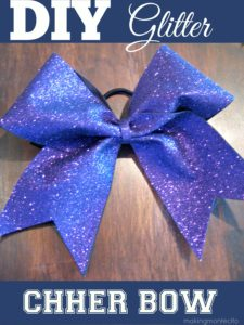 Easy DIY Glitter Bow