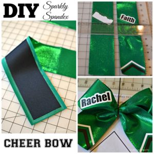 DIY Sparkly Spandex Cheer Bow