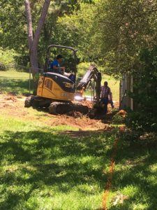 French Drain Installation – Oh, la, la!