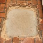 Repairing a Brick Floor…Two Steps (or Holes) Forward!